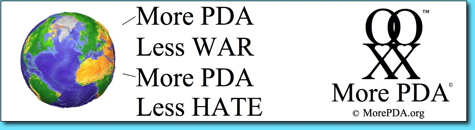 More PDA Bumper Sticker